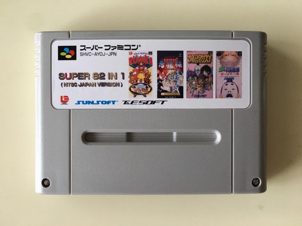 Cartes de jeu 16 bits cartouche 84 en 1!! (Version japonaise NTSC!!)