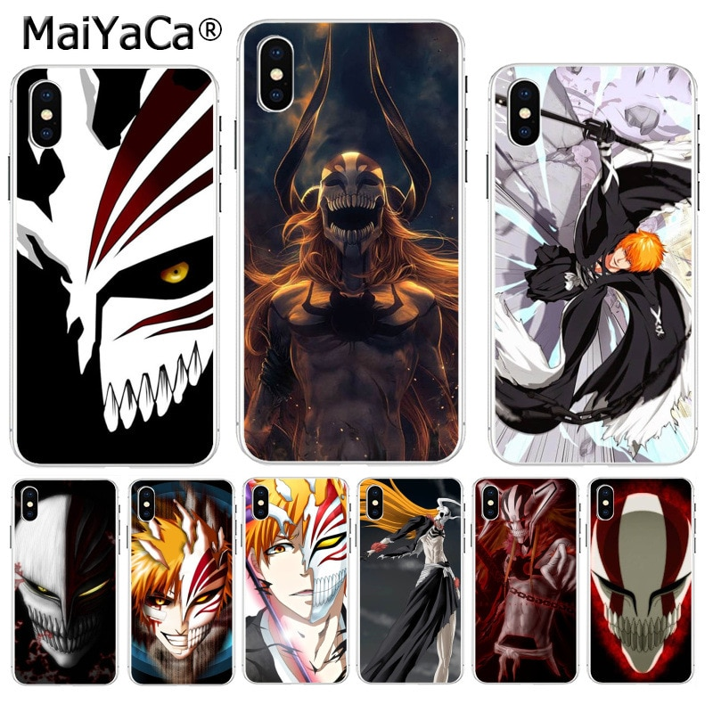 Maiyaca lixívia ichigo oco máscara superior detalhada popular caso de telefone para apple iphone 8 7 6 s plus x xs max 5 5S se xr capa