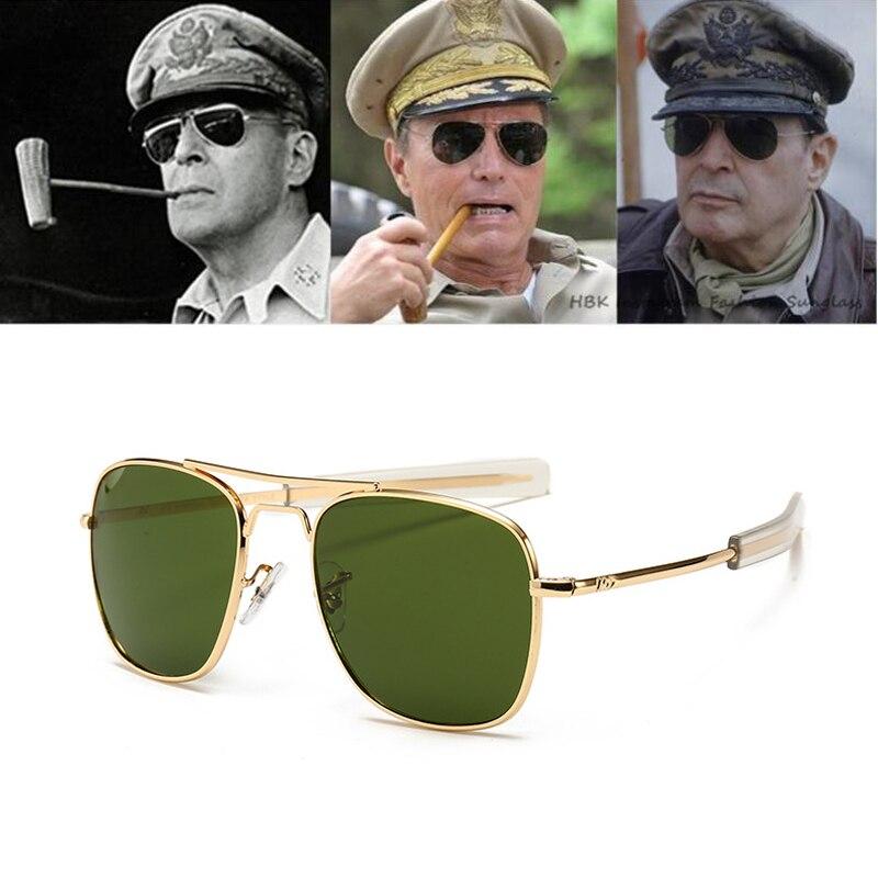 Vintage fashion Aviation AO Sunglasses Men luxury Brand Designer Sun Glasses For Male American Army