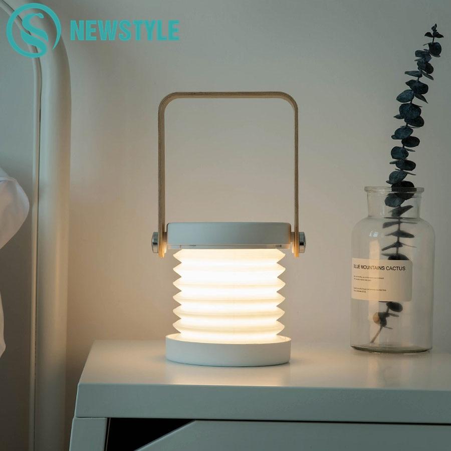 مصباح قراءة LED قابل للطي يعمل باللمس ، مصباح USB قابل لإعادة الشحن ، إضاءة قابلة للتعديل ، مثالي لغرفة النوم أو كهدية للأطفال.