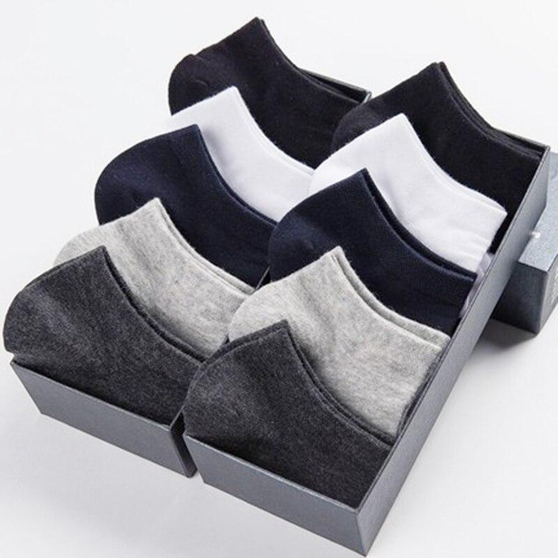 Calcetines cortos blancos de barco de alta calidad para hombre, sección delgada de verano, 10 pares, marca de negocios, ocio, No Show Crew, calcetines 100 algodón