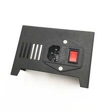Funssor-couvercle/protecteur dalimentation en acier noir avec interrupteur pour les pièces dimprimante 3D Anet A8, mise à niveau