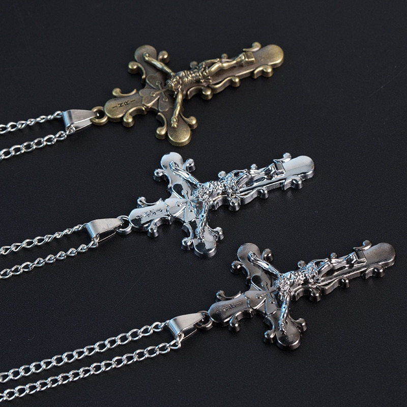 Satan Cross titanium steel 316L Stainless steel Pendant Necklace Satanism gothic punk jewelry CX44