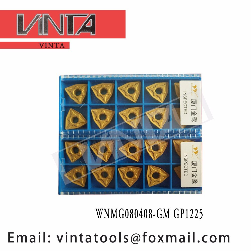 الشحن مجانا عالية الجودة 10 قطعة/السلع WNMG080408-GM GP1225 cnc كربيد تحول إدراج