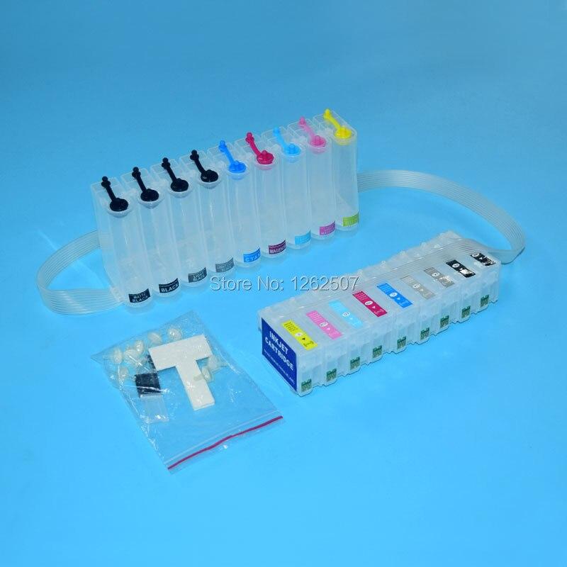 Sistema de tinta a granel R 3000 para Epson Stylus R3000 Ciss para Epson T1571-T1579 sistema de suministro Continuo de Tinta 9 colores