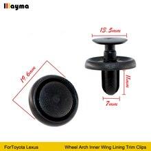 De alta calidad de plástico clips para Toyota Lexus rueda interior ala forro recortar Clips 1set 10x 20x 50x 100x