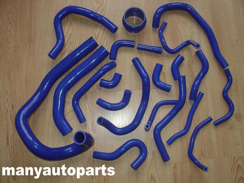 Radiador de silicona 20 piezas y manguera de refrigerante para TOYOTA SUPRA MA70 MK3 7M-GT/7MGTE 3.0L azul