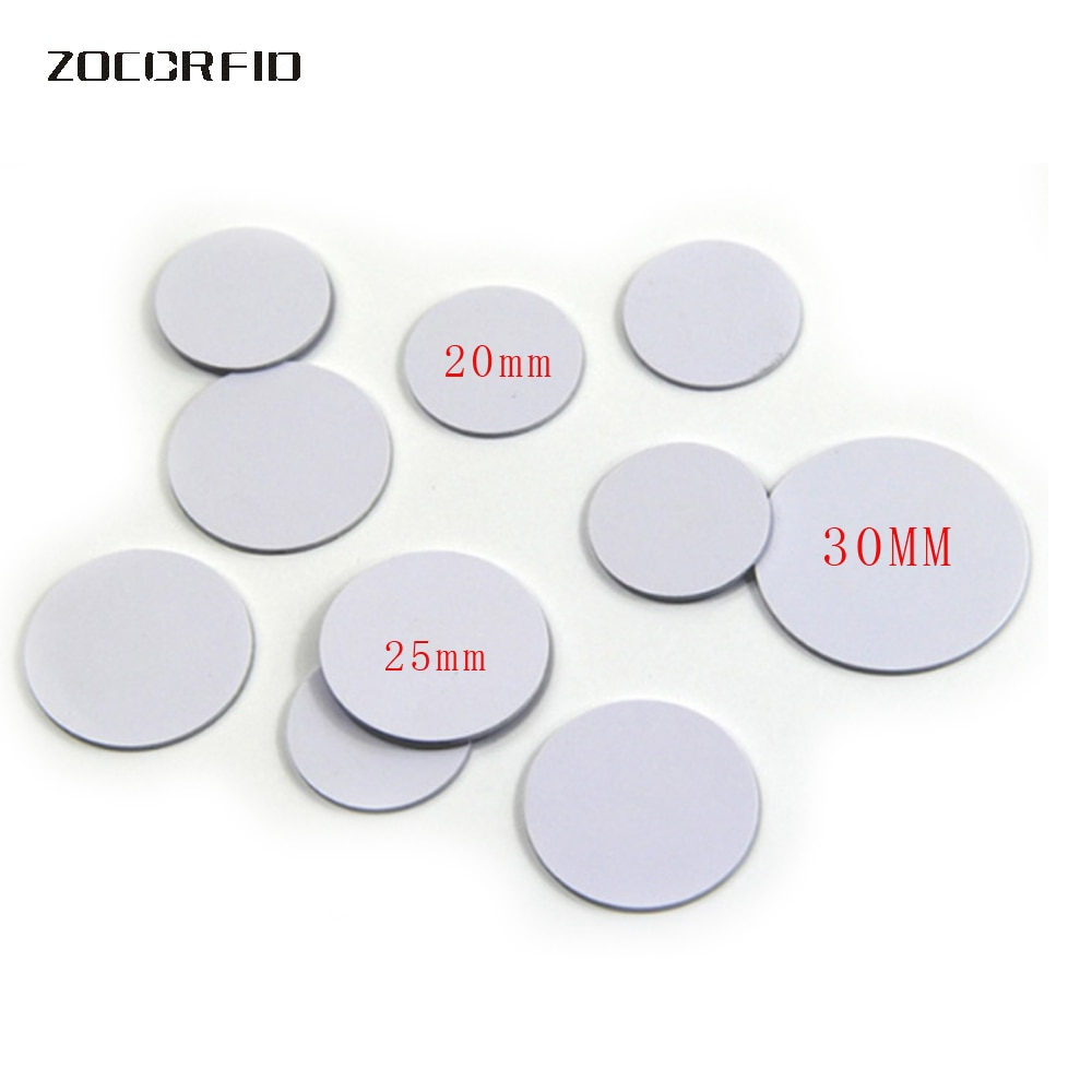 10 шт./лот 13,56 МГц/125 кГц RFID Монета тег 30/25/20 мм диаметр катушки ультра тонкий NFC Монета тег