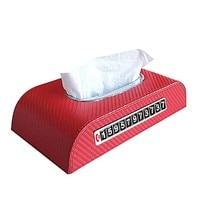 PU Leather Car Sun Visor Tissue Box Parking Card Armrest Box Seat Back Tissue Box Car Accessories Card Towel Box Holder