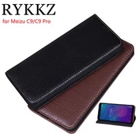 rykkz luxury leather flip cover for meizu c9 5 45 mobile stand case for meizu c9 pro leather phone case cover