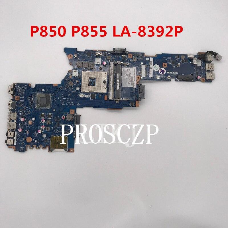 Envío gratis por satélite P850 P855 K000135160 placa base para ordenador portátil QFKAA LA-8392P HM77 UMA DDR3 funciona bien