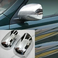 abs chrome side door mirror cover trim fit for toyota land cruiser fj120 2003 2004 2005 2006 2007 2008 2009