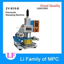 Machine de pliage automatique de LOGO en cuir de Machine destampillage de 220 V ZY-819-B, Machine de gaufrage de carte nominative à grande vitesse
