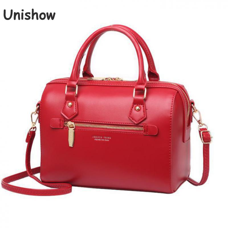 Boston shape pu leather women shoulder bags 2020 lady handbags brand designer female crossbody messenger bag travel totes purse