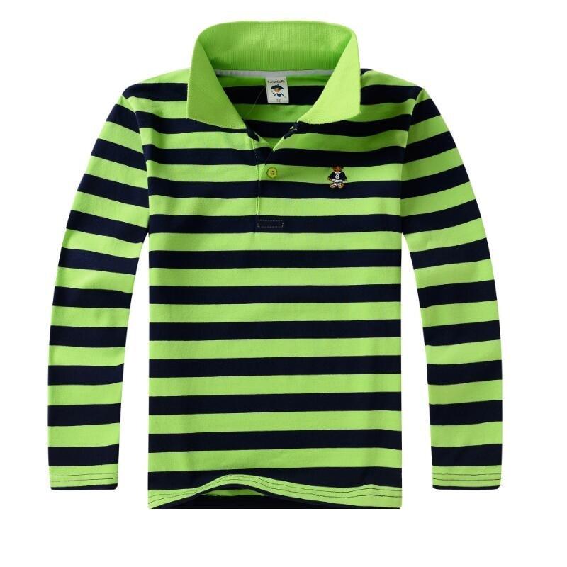 Top quality kids children boy t shirt kid boys clothing long sleeve cotton striped children's T-shirts  4 6 8 10 12 14 years