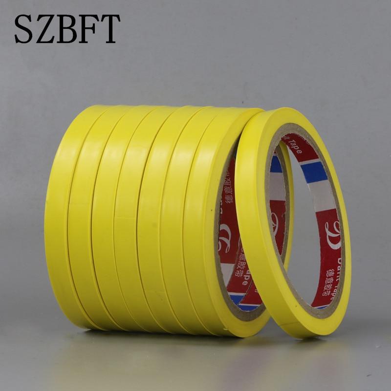 SZBFT Yellow floor tape warning marking tape marking separation isolation tape wear-resistant PVC single-sided adhesive
