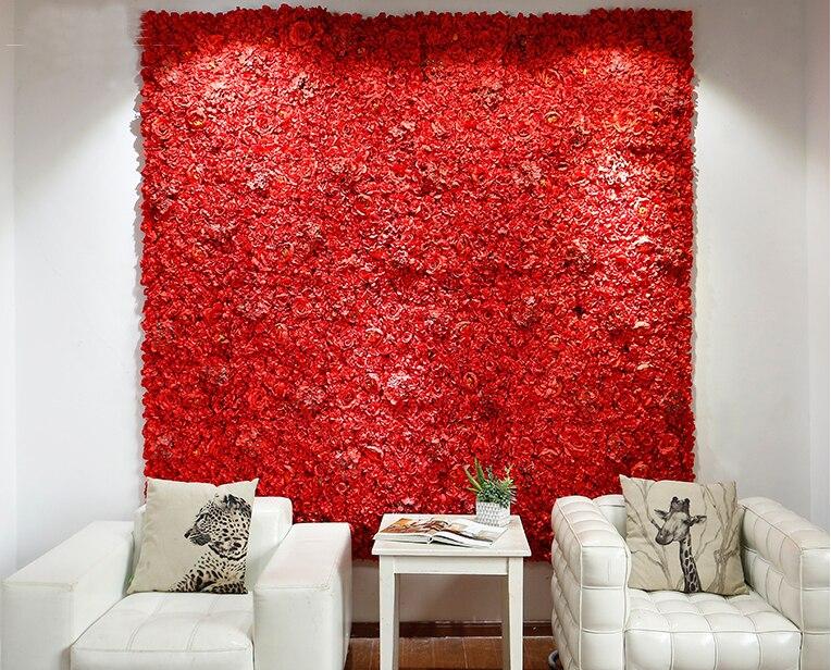 Красный свадебный цветок стена Роза и Гортензии цветок фон с алюминиевой сложенной трубой события реквизит Свадебный декор