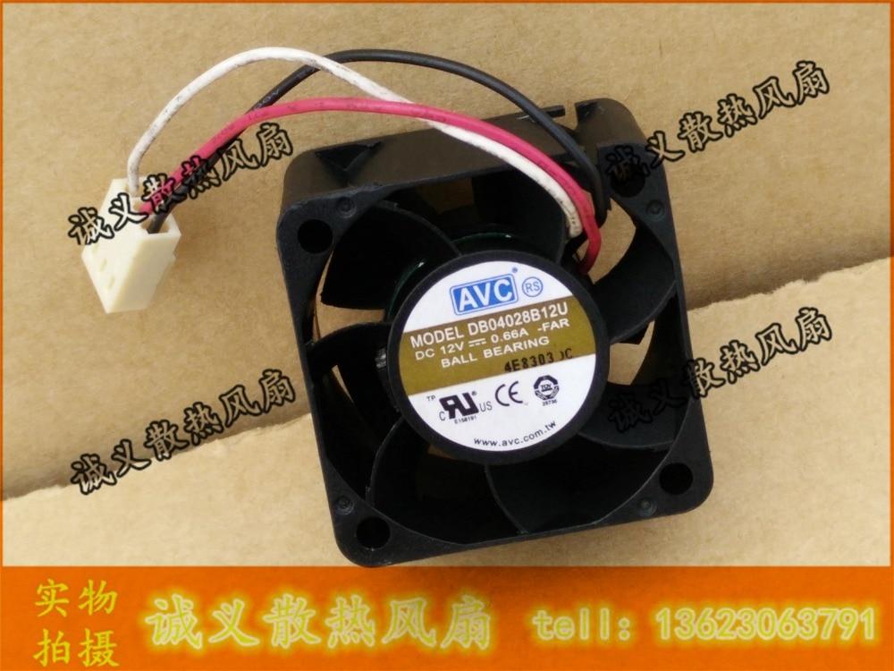 AVC DB04028B12U 40*40*28 DC 12v 0.66A ventilador de enfriamiento del inversor del servidor del Cojinete de bolas dobles