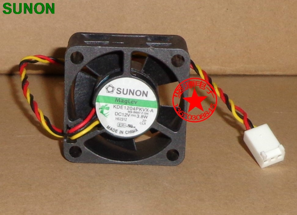 Для Охлаждения Sunon 4020 40 мм x 40 мм x 20 мм KDE1204PKVX-A кулер maglev Вентилятор охлаждения 12V 3,8 W 3 провода 3Pin разъем для маршрутизатор 4 см