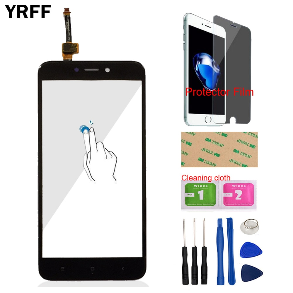 Touch Screen Front Glass For Xiaomi Redmi 4X Redmi4X Touch Screen Digitizer Panel Glass Sensor 5.0''
