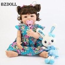 55 centimetri Pieno Del Corpo In Silicone Reborn Baby Doll Giocattolo Per La Ragazza Del Vinile Principessa Neonato Neonati Alive Bebe Boneca Fare Il Bagno Giocattolo regalo di compleanno