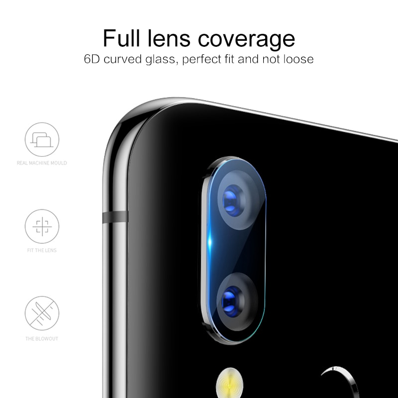 Película protectora de pantalla de lente de cámara trasera para HuaWei P20 Lite Mate 20 X P20 Pro Honor View 10 Lite P Smart Plus no Vidrio Templado