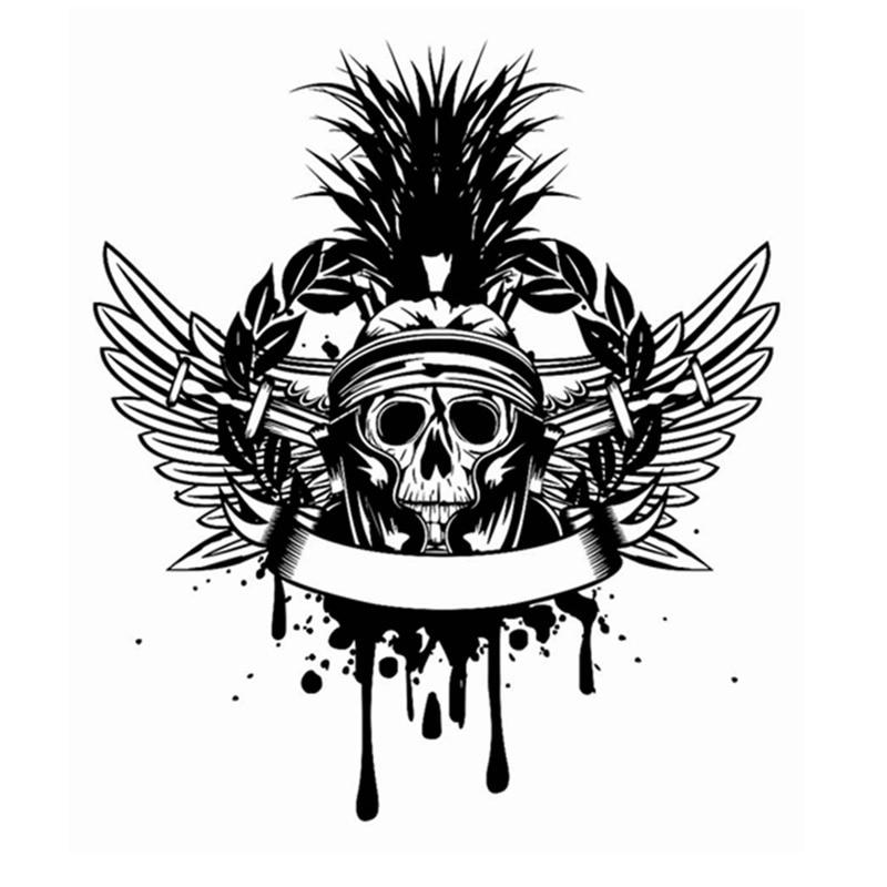 Calcomanías de calavera Halloween espada ala pegatina Punk muerte calcomanía Horror Halloween diablo cartel nombre coche ventana arte pared