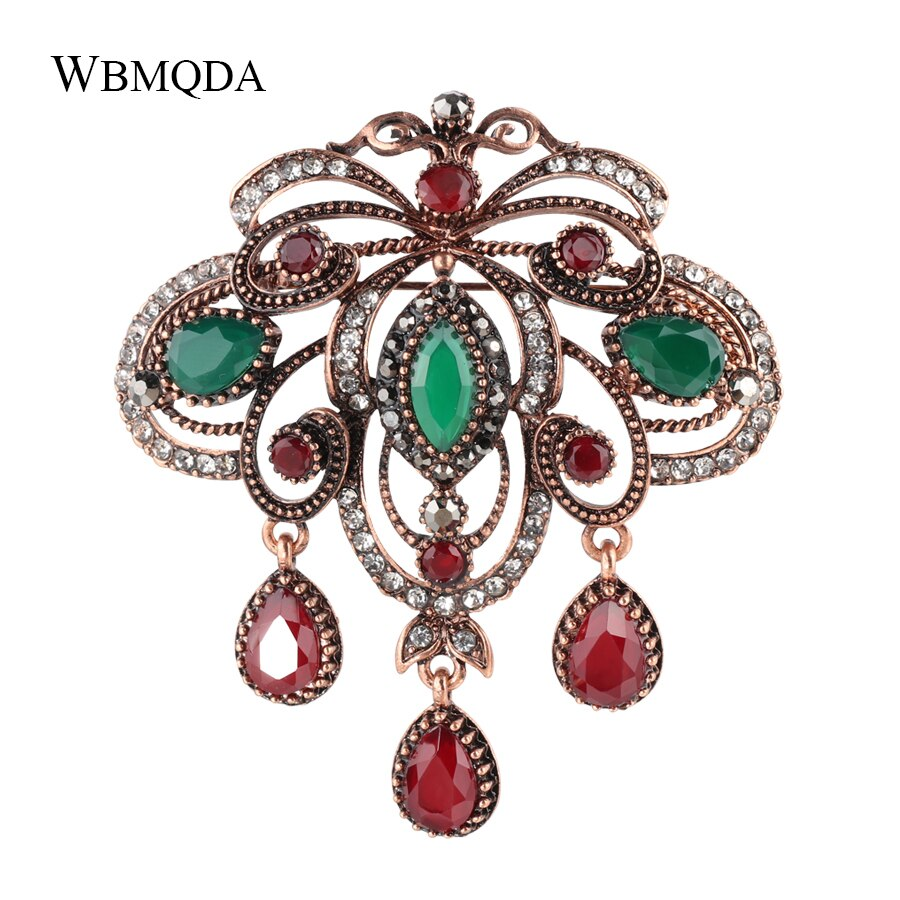 3 colores de cristal hueco broche de mariposa joyería de turco antiguo broches solapa oro broches Vintage para las mujeres Accesorios