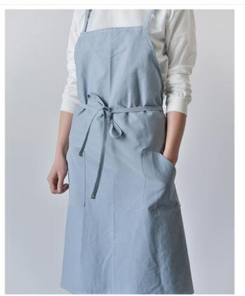 Фартук для дома и ресторана модная Корейская хлопковая льняная кухонная рабочая