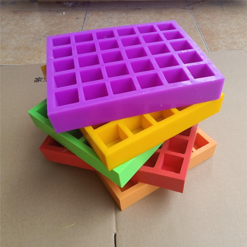 Molde feito sob encomenda colorido do silicone com logotipo da marca moldes personalizados do sabão molde do cubo de gelo molde do açúcar do bolo