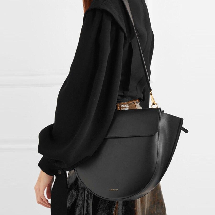 Casual sacos de sela para mulheres bolsas semicircular irregular couro do plutônio ombro mensageiro sacos senhora marcas grande capacidade bolsa