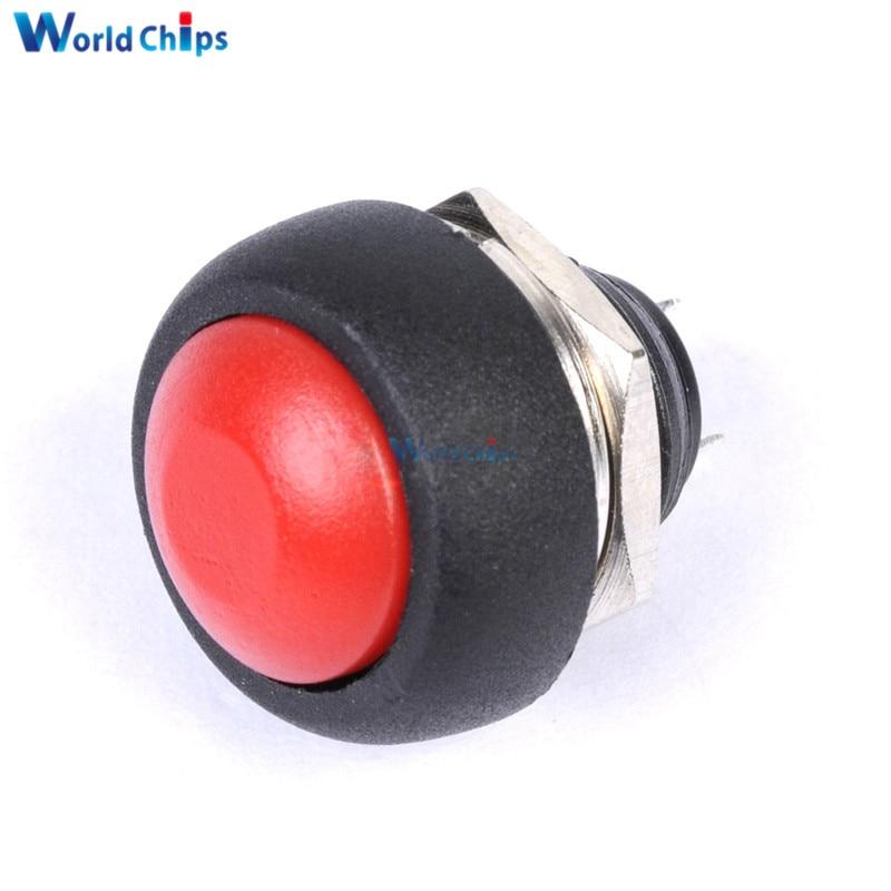 4 Uds x 12mm impermeable momentáneo ON/OFF pulsador Mini Interruptor redondo
