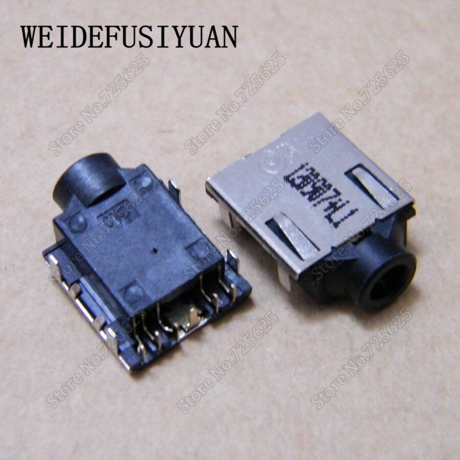 50-100 unids/lote portátil clavija de conexión de audio para auriculares para HP Pavilion G4-1000 G6-1000 G7-1000 de micrófono de 3,5mm puerto