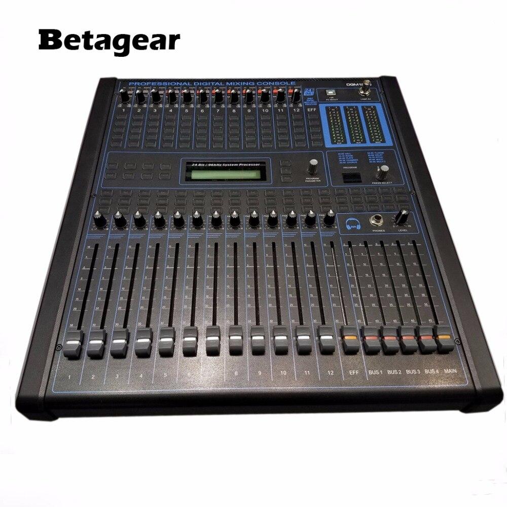 Betagear Professional digital audio mixing console 12-channel audio dj consola de audio professional audio mixer live sound
