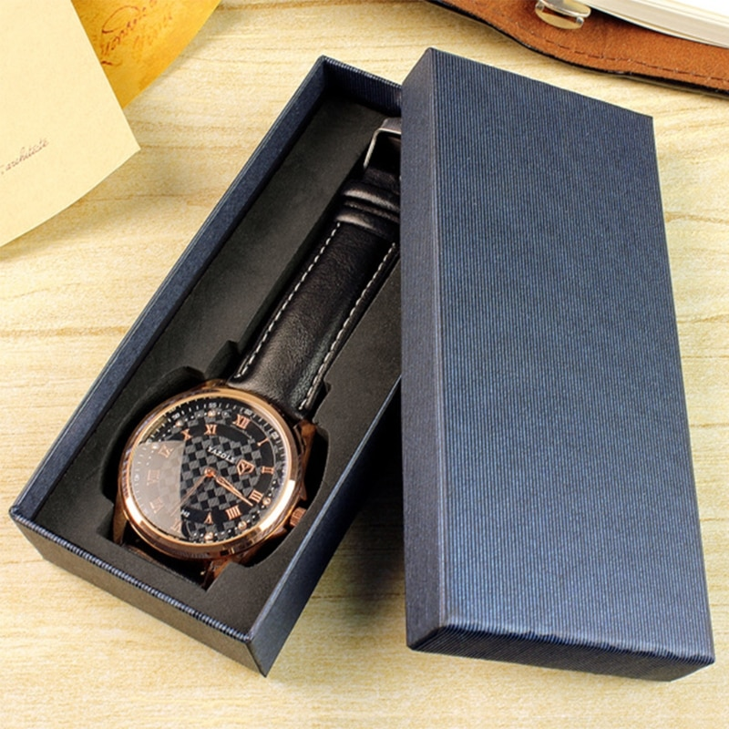 JAVRICK Watch Box Storage Case Long Type Jewelry Display Gifts Packing Organizer for Business watch