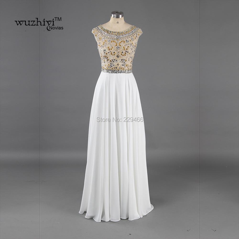 Vestido de novia blanco largo vestidos de baile 2017 por encargo línea...