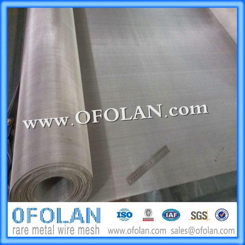UNS N08904 se utilizan en ácido sulfúrico y ácido hidroclórico (malla de alambre tejida de 30 mallas), 500mm * 1000mm suministro de Stock