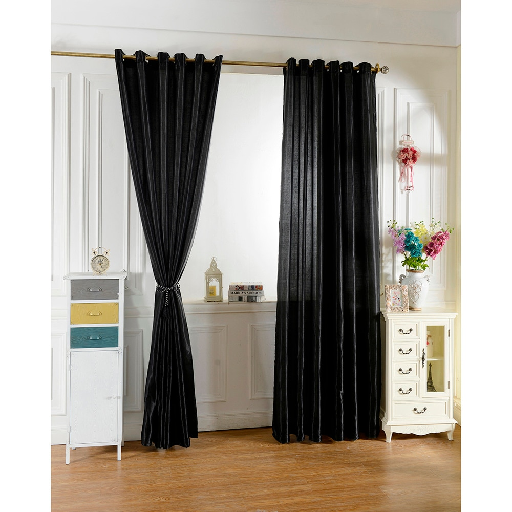 100*250 Cortinas para ventana negras para niños Niños Niñas Ropa de cama sala de estar elegantes Bule Cortinas para sala