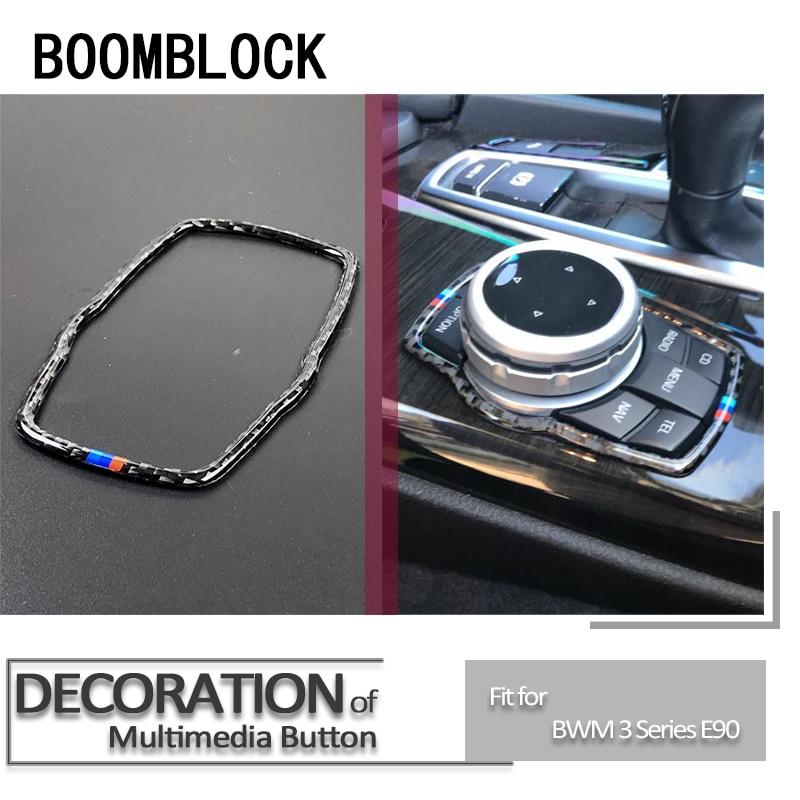 Styling carro Adesivos Para BMW F30 F10 F20 F25 F07 X3 X4 X5 X6 1 2 3 5 Série Console Central Multimídia iDrive Interruptor Botão Quadro