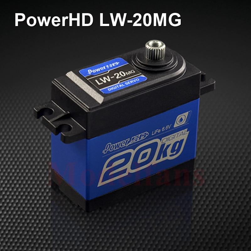 POWER HD LW-20MG 100% Waterproof Digital Servo 20kg/60g for 1/8 1/10 RC Cars RC Airplanes
