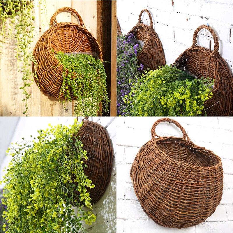 Nueva flor para colgar en pared cesta para plantas para jardín exterior...