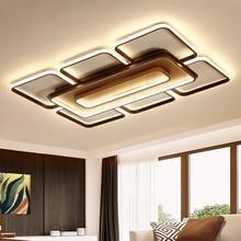 Brun/blanc Rectangle plafond led lustre lumière moderne lustre éclairage pour salon chambre lustre led lustre para sala