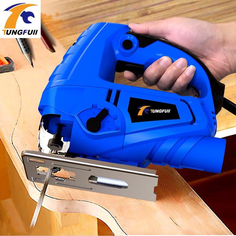 Tungfull Elektrische jig sah Haushalt Kettensäge Multi-funktion Kolben Holz Draht Sägen Mini Schneiden Maschine Holzbearbeitung Werkzeuge