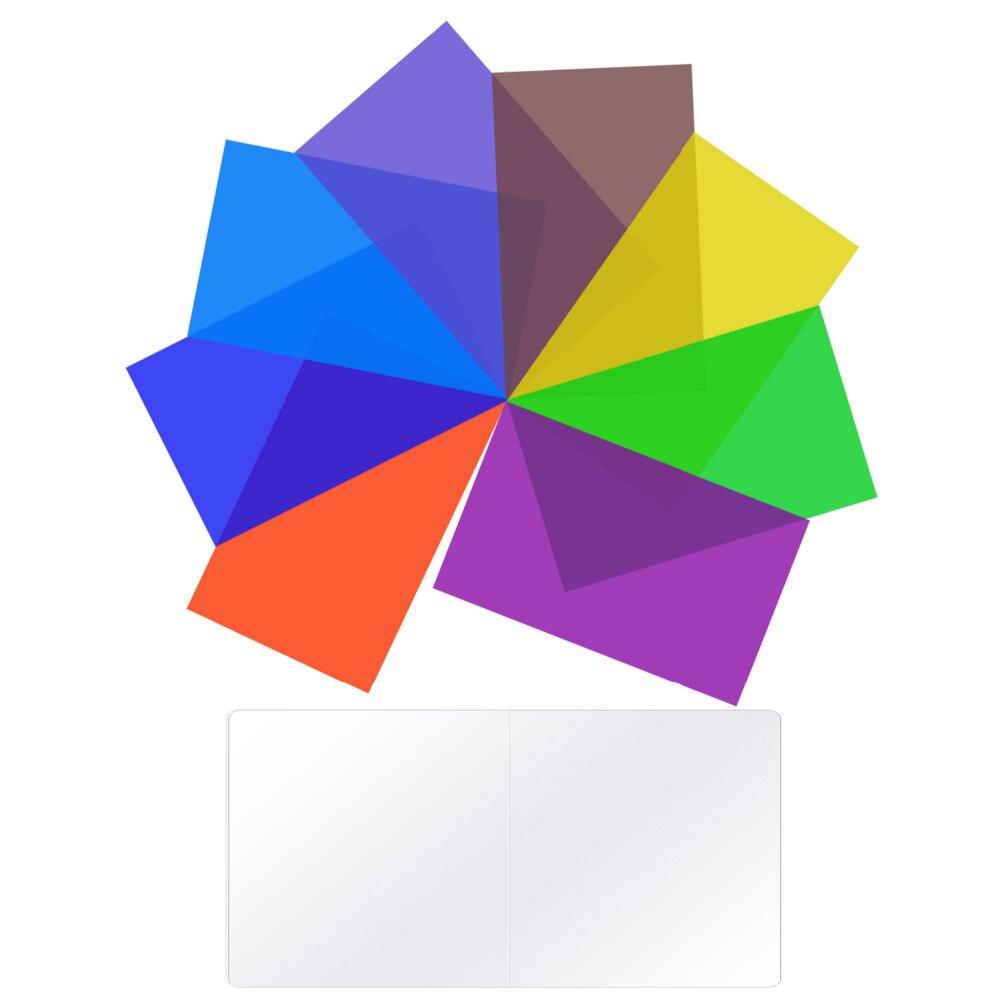 Neewer Paquete de 8 filtros de Color de iluminación Filtro de corrección de Color Tansparent en 8 colores diferentes para Neewer 660 luz LED para vídeo