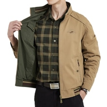 Marke Kleidung Jacke Männer doppelseitige Military Jacken Mäntel Reine Baumwolle herren Jacke Herbst Jaqueta Masculina Plus Größe m-4XL