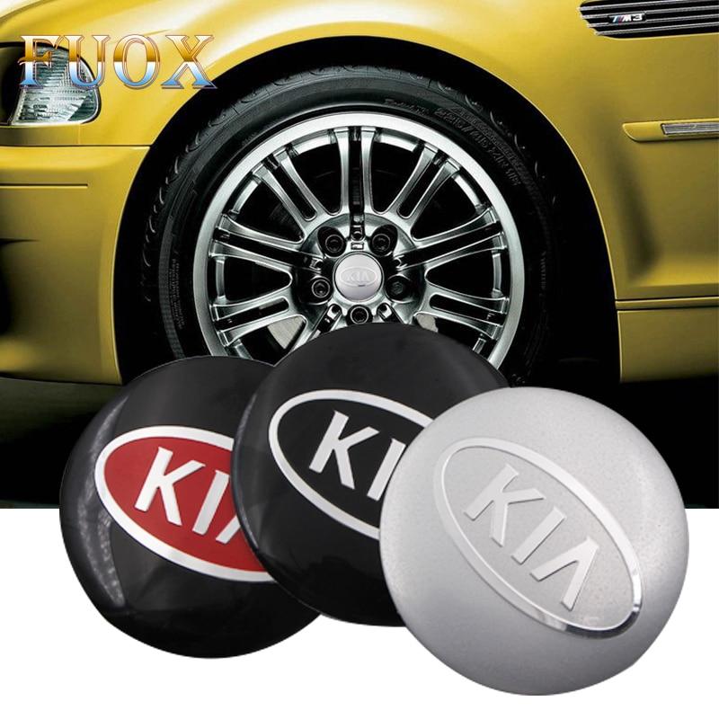 4pcs Car styling 56.5mm 65mm Car Wheel Center Cover Hub Cap Resin Badge Emblem Sticker for KIA Cerato Sportage R K2 K3 K5