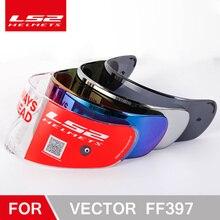 LS2 FF397 motorcycle helmet clear dark smoke multicolour silver visor vizard only for LS2 VECTOR model lens