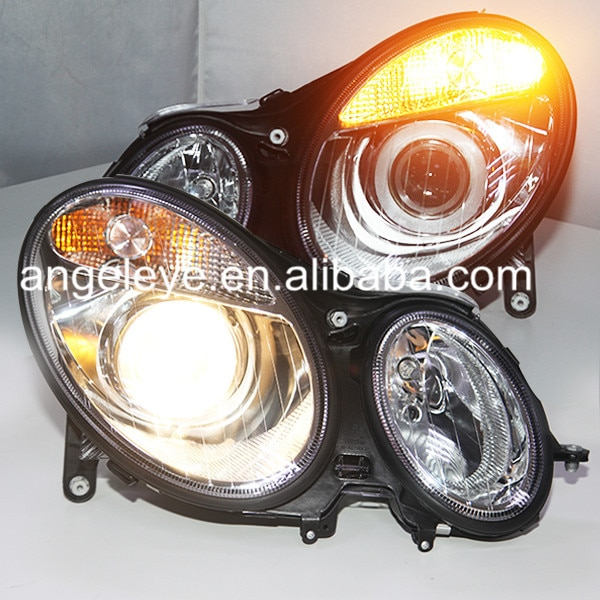 Para mercedes-benz 2002 a 2005 años W211 E200 E240 E280 E300 E320 E500 lámpara de cabeza de Color plateado TYC