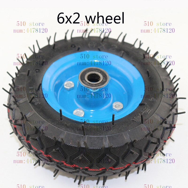 free shipping 6x2 tire tyre rim 6 inch 15cm pneumatic wheel pump wheel trolley cart wheel roller caster wheel caster