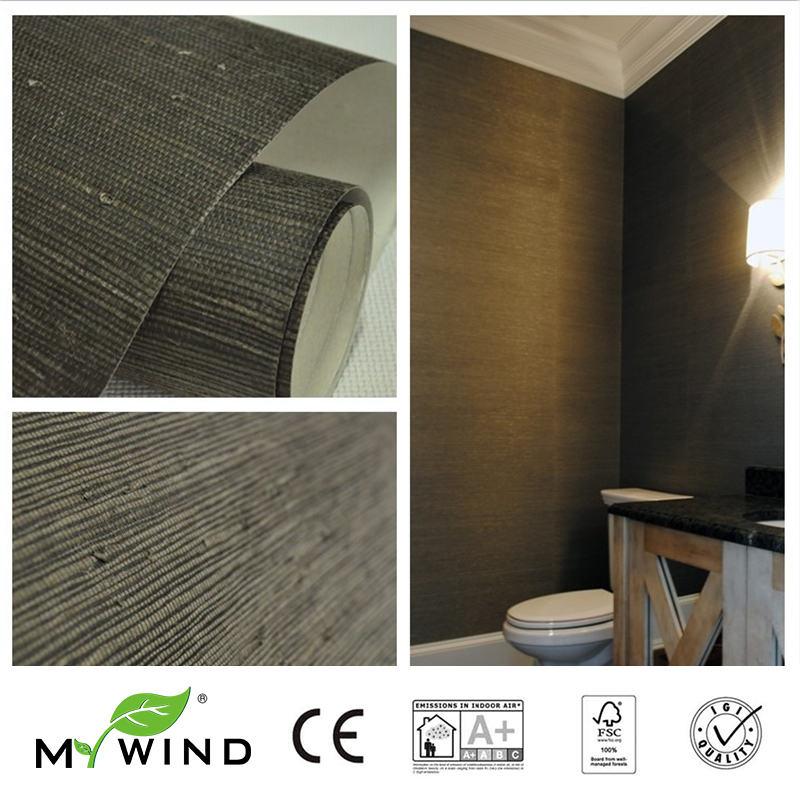 2019 MY WIND Grasscloth empapelado de yute 3D fondos de pared diseños de papel de pared para pared de granito europeo